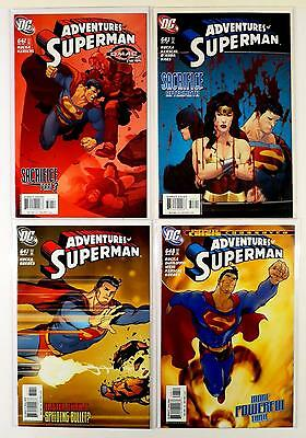The Adventures Of Superman Dc Lot Of 4 Comics #642 643 647 648 (Vf/nm)