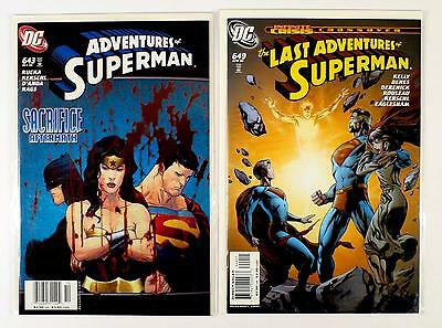 The Adventures Of Superman Dc Lot Of 2 Comics #643 649 (Vf/nm)