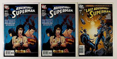 The Adventures Of Superman Dc Lot Of 3 Comics #643 643 649 (Vf/nm)