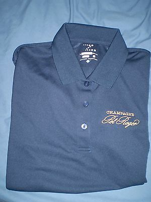 Pol Roger Champagne mint never worn Ladies Small size blue quick dry golf shirt