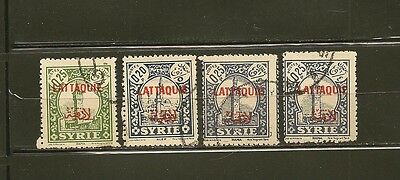 Latakia Syria French Mandate 1930s 4 Used Stamps