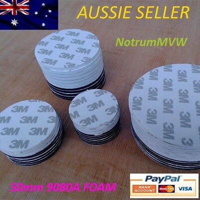 10x 3M WHITE Double Sided Tape Round 50mm Foam Pad Mounting Strong Adhesive