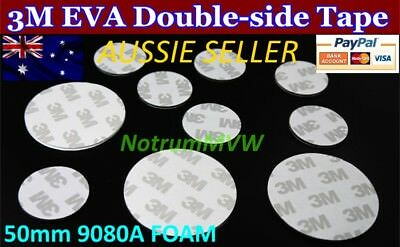 4pcs 3M White Round 50mm Double Sided Foam Tape Pad Mounting Strong Adhesive