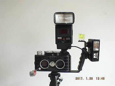Powerful Custom-built Viewmaster Stereo Camera w/ HOT SHOE & PC Socket + EXTRAS