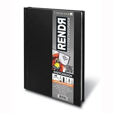 Crescent RendR No Show Thru Hardbound Sketchbook 5 1/2 in. x 8 1/2 in. Hardbound