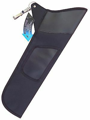 Traditional  Fabric Side/hip Arrow Quiver Archery Product Faq-111 R-H  L-H Black