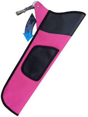 Traditional Fabric Side/hip Arrow Quiver Archery Product Faq-111 R-H L-H Pink