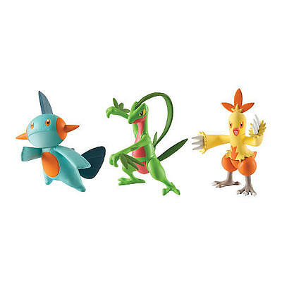 "Tomy Pokemon 3 Pack Grovyle, Combusken and Marshtomp 3"" Action Figures"