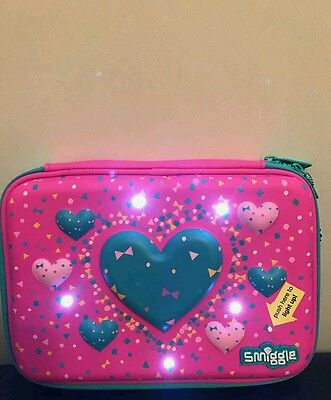 Smiggle Pink light up pencil case - brand new