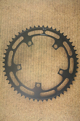 Vintage NOS NEW Dura Ace GA-200 black 54t teeth chainring ring 130 BCD