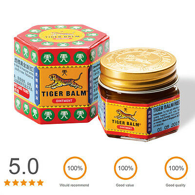 Tiger Balm Red Relief of Muscular Aches Pain Sprains Ointment Massage Rub:10,30g