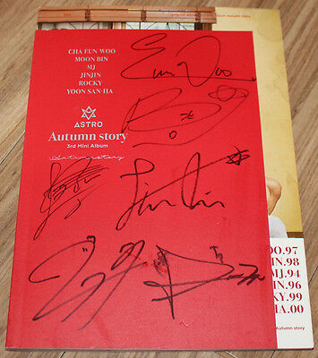 ASTRO Autumn Story 3rd Mini Album RED Ver. REAL SIGNED AUTOGRAPHED PROMO CD