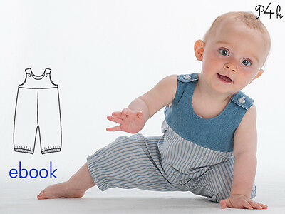 Schnittmuster Baby Overall / Latzhose Bobby. Ebook von Pattern4kids