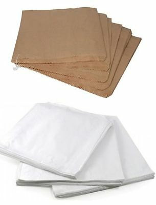White Sulphite / Brown Kraft Strung Paper Food Bags for Sandwiches Groceries etc