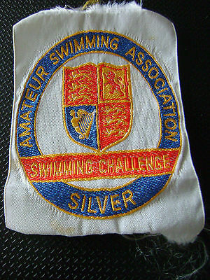 Swimming Sew On International S.t.a.& A.s.a Silver 100 M 200 M.