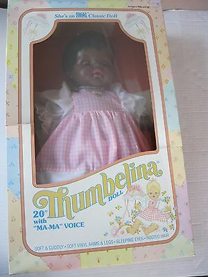 "Ideal Thumbelina African American 20"" Doll 1984"
