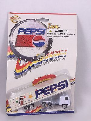Team Pepsi Semi Truck White Die Cast Metal Special Edition Toy/Collection/Model