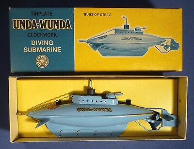 SUTCLIFFE Unda Wunda U-Boot Uhrwerk OVP vintage tin wind up toy submarine A168