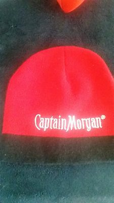 Captain Morgan Spiced Rum - Knit Winter Style hat - cap..Black & Red..NEW