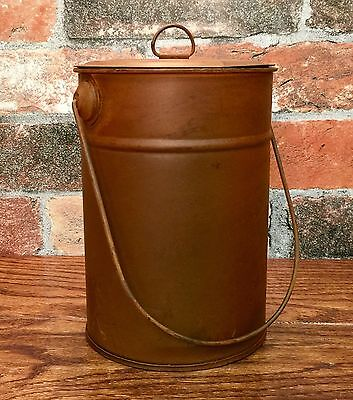 Rustic Primitive Tin Metal Can or Canister with Lid