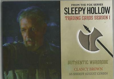 SLEEPY HOLLOW SEASON 1 trading card AUTHENTIC WARDROBE M04 CLANCY BROWN (2015)