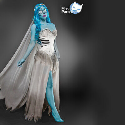 Costume Halloween Sposa Cadavere travestimento Carnevale cosplay Corpse Bride