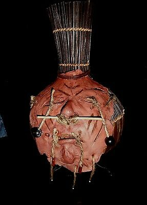 African Tribal Wars Trophy Tanned Faceskin. Life Size Gaff