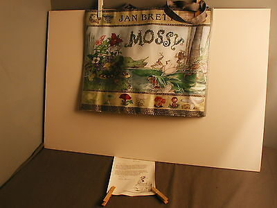 NEW JAN BRETT CARRY TOTE BAG MOSSY  W/ LETTER - CHILDRENS BOOK - 21 ls