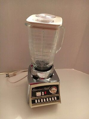 Vintage Chrome Almond Osterizer Dual Cycle Special Deluxe Blender works great!