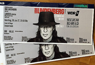 2 tickets udo lindenberg k ln lanxess arena innenraum front of stage 18 eur 241 00. Black Bedroom Furniture Sets. Home Design Ideas