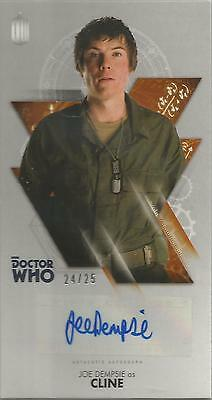 TOPPS DR. WHO THE TENTH DOCTOR ADVENTURES autograph card - JOE DEMPSIE #24/25