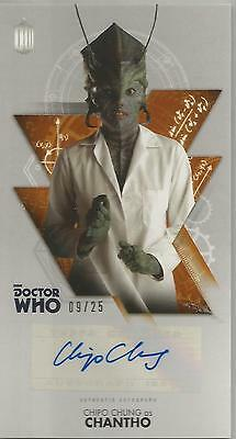 TOPPS DR. WHO THE TENTH DOCTOR ADVENTURES autograph card -CHIPO CHUNG #09/25