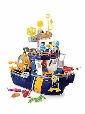 Fisher-Price Imaginext Ocean Boat Ship Rescue NEW