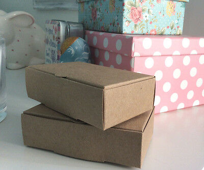 Vintage Kraft Cake Boxes, For Weddings & Special Occasions 100x60x30mm FREE POST