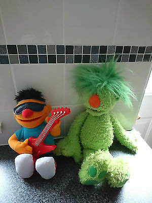 """Jim Henson Tomy The Hoobs16""""groove Plush Talking Toy&seasame St Let's Rock Ernie"""