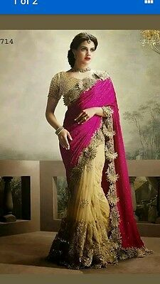 Bollywood saree with ready blouse