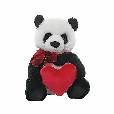 GUND Valentines Day Panda Teddy Bear With Red Love Heart Plush Soft Toy Gift