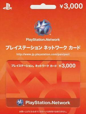 play station network card 3000 Yen japan japanese PSN PSP PS4 PSV VITA PS3 store