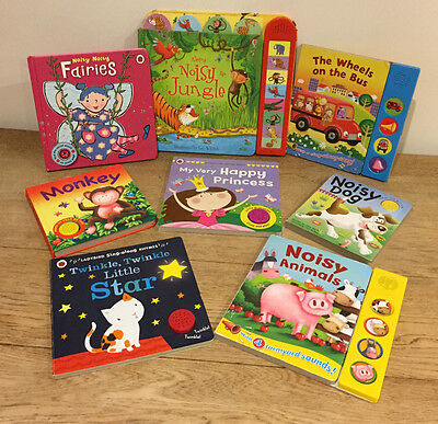 Fab Bundle of Toddler Pre School Sound Books -7 Books included Usborne, LadyBird