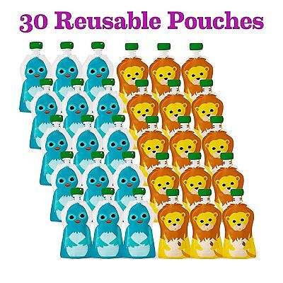 30 Reusable Baby Food Pouches