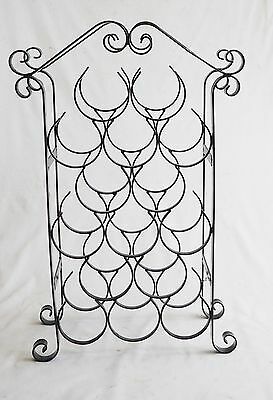 Black 15 Bottle Wine Rack Wrought Iron Or Steel Construction