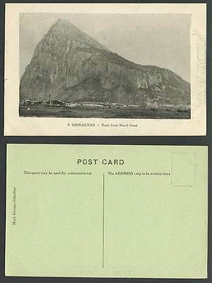 Gibraltar Old Postcard The Rock from North Front, Mountain, Mark Seruya No. 8