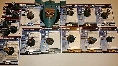 Q Star Wars Miniatures Republic 18 Mini Organa Panaka Flash Speeder ++
