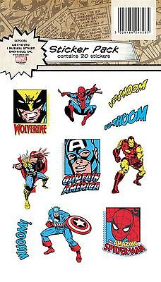 Official Stickers | MARVEL AVENGERS | VINYL STICKER PACK | 2 Sheets per Pack