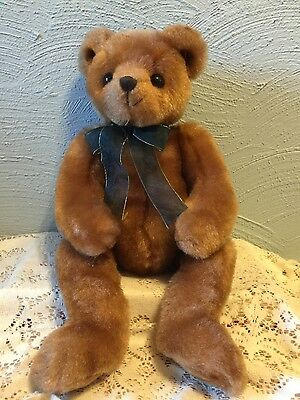 Yesterbear retired 17in TY Classic old fashioned Brown plush teddy bear 3up 5028