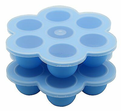 Suntake Baby Food Container, 7 Cups Silicone Baby Food Storage Tray, Set of 2