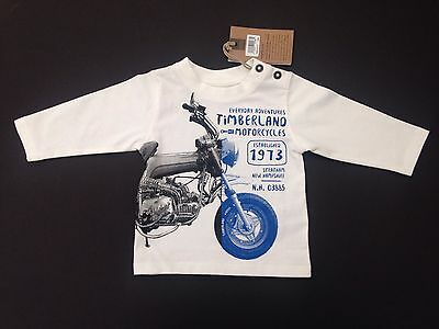BNWT TIMBERLAND RRP £19 Baby Boys White Long Sleeve T. Shirt - Ages 6,9 & 18 mth