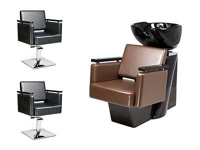 SALON HAIRDRESSING STYLING FURNITURE SETS Backwash  Styling Chairs PIAZZA