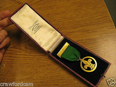 Boy Scouts named Medal of Merit Order of Merit dated 1940 in George Collins case