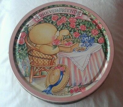 Friends Forever vintage cookie tin and cheque books